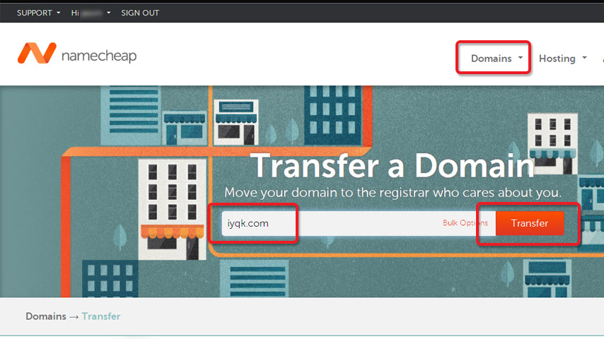 Transfering 1and1 to namecheap