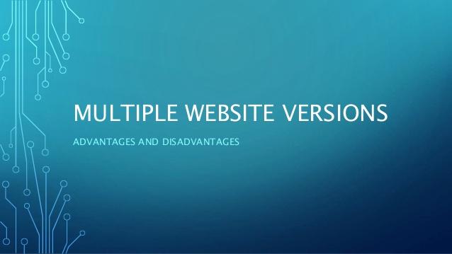 Website core versions performances