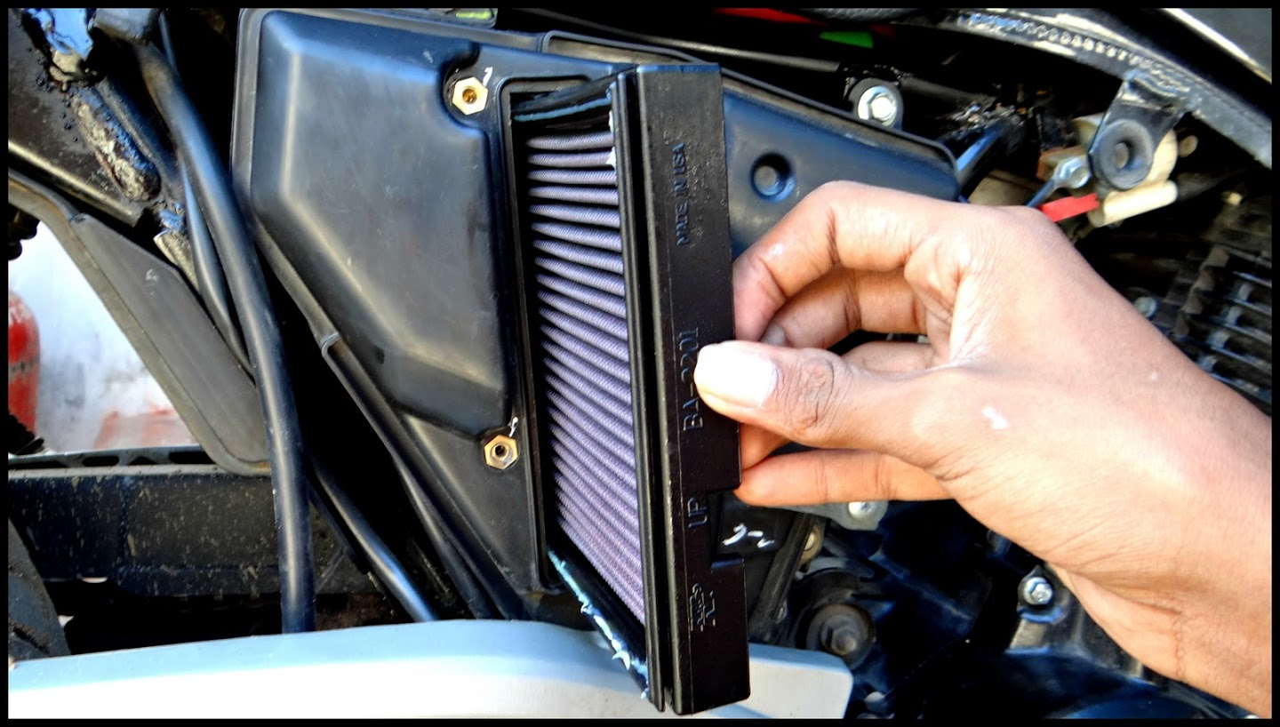 How to clean your air cleaner element rouser 180cc.