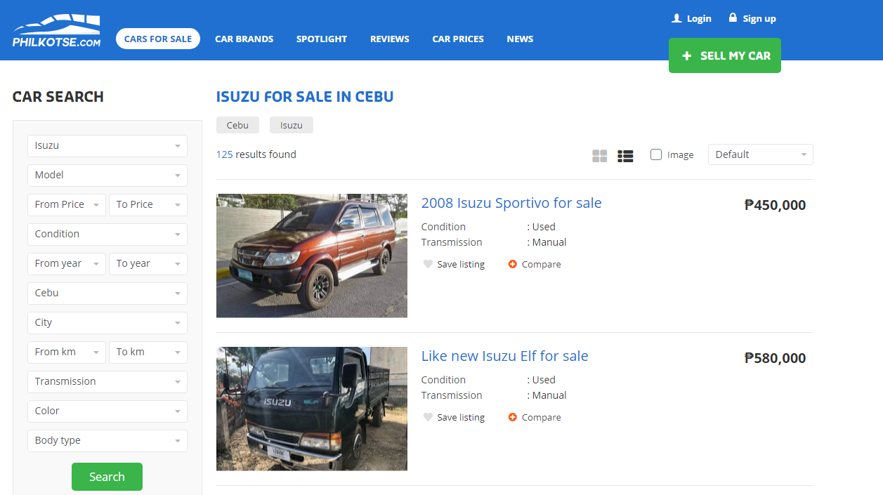 Car listing free post in philippines