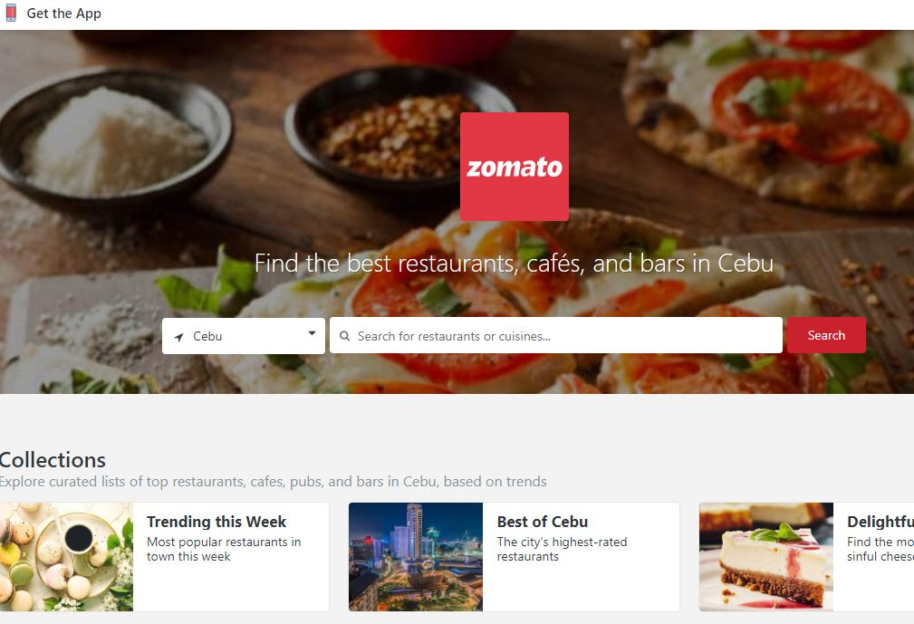 Food business online map in Cebu Philippines