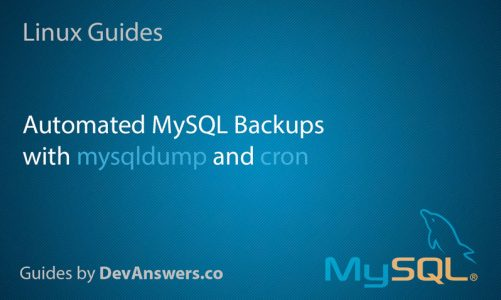 2 ways to back up your MySQL databases using cron jobs in your LINUX cpanel