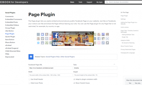 Get facebook plugins for your website