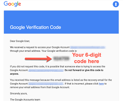 Getting my Google verification code pin code in a resend button